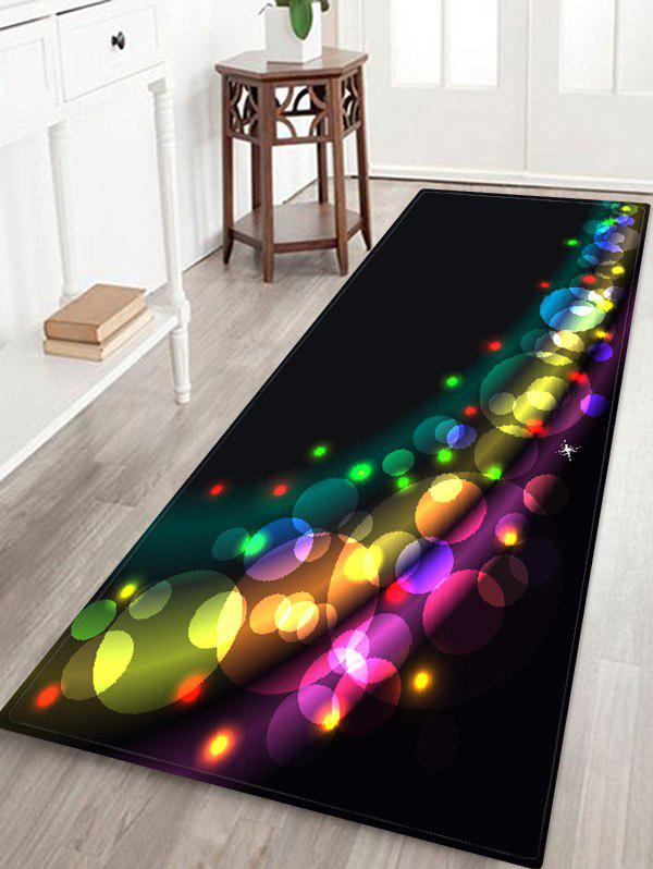 Discount Christmas Colorful Light Printed Floor Mat