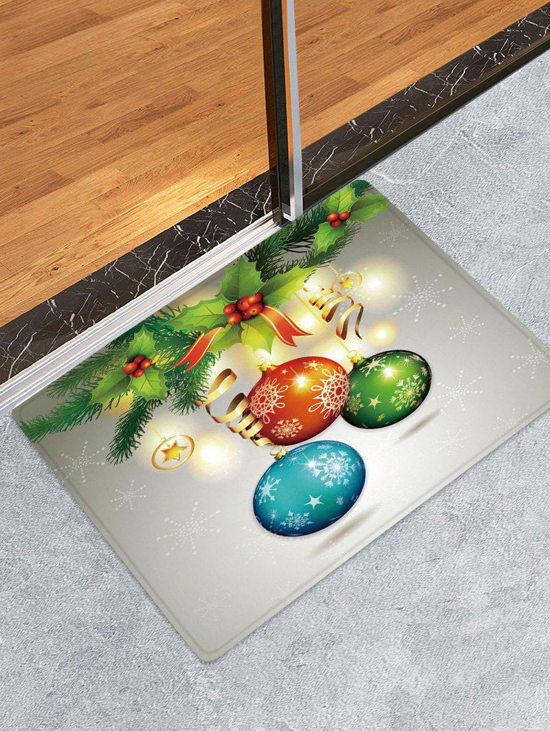 Shops Christmas Cherry Balls Pattern Water Absorption Area Rug