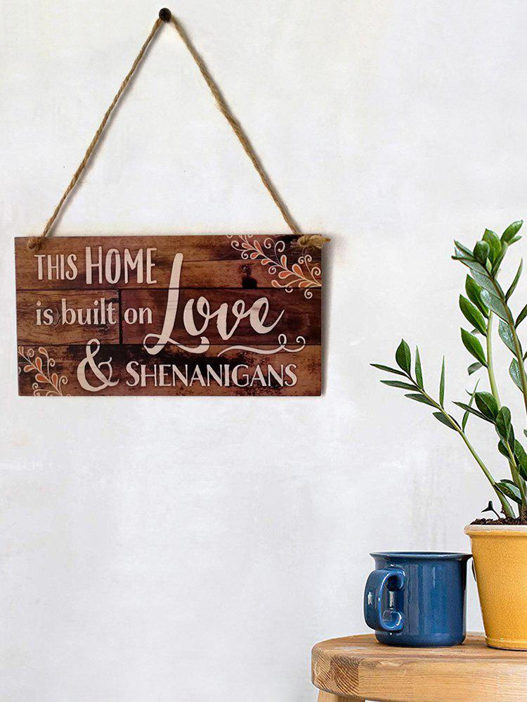 Fancy Home Love Wooden Hanging Decoration
