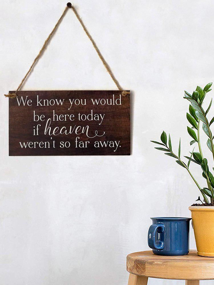Outfits Be Here Sign Wooden Hanging Wedding Decoration