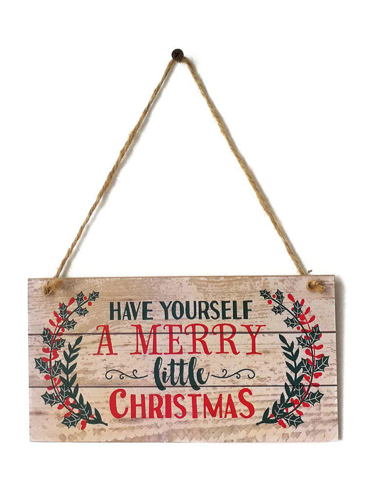Discount Merry Christmas Sign Wooden Hanging Decoration