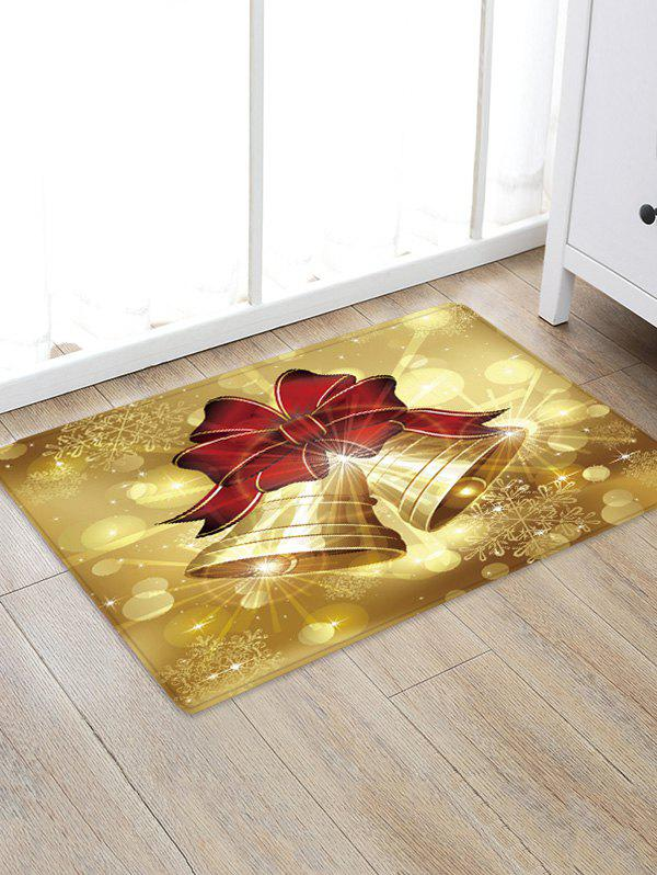 Shop Christmas Bowknot Bells Pattern Water Absorbing Floor Rug