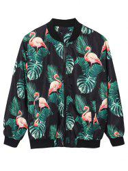 Flamingo Palm 3D Print Jacket -