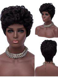 Short Layered Curly Synthetic Wig -