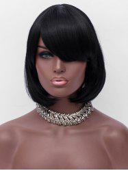 Inclined Fringe Short Straight Bob Party Synthetic Wig -