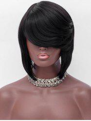 Short Side Fringe Party Straight Capless Synthetic Wig -
