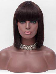 Full Bang Short One-length Straight Synthetic Wig -
