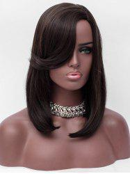 Medium Side Parting Flip Straight Capless Synthetic Wig -