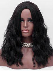 Center Parting Long Corn Hot Wavy Synthetic Wig -