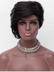 Short Sideswept Bang Straight Party Synthetic Wig -