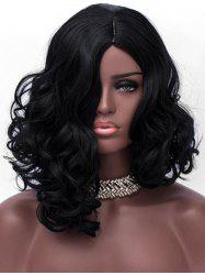 Medium Side Parting Asymmetric Wavy Party Synthetic Hair -