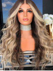 Middle Part Long Colormix Party Wavy Synthetic Wig -