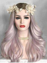 Middle Part Colormix Long Natural Straight Lolita Synthetic Wig -