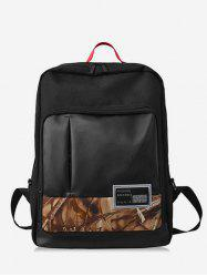 Leaves Shape and Letter School Backpack -