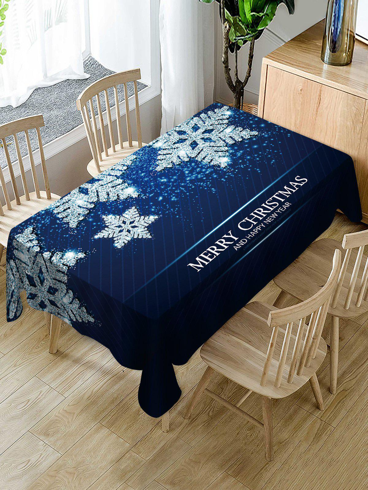 Nappe de Table à Imprimé Flocons de Neige de Noël