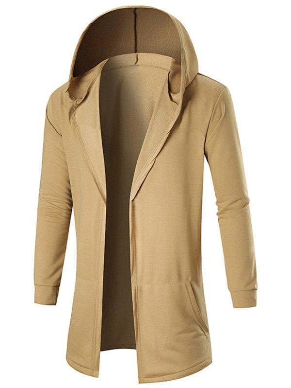 Outfits Pockets Hooded Open Front Coat