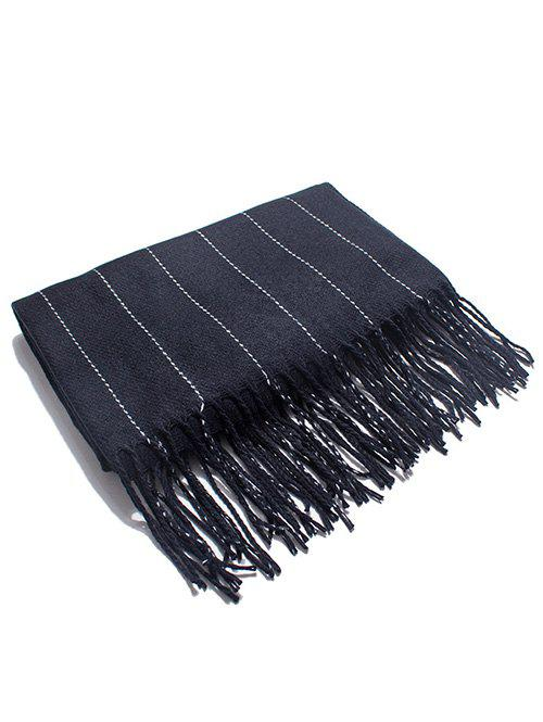 Discount Stylish Striped Fringed Long Scarf