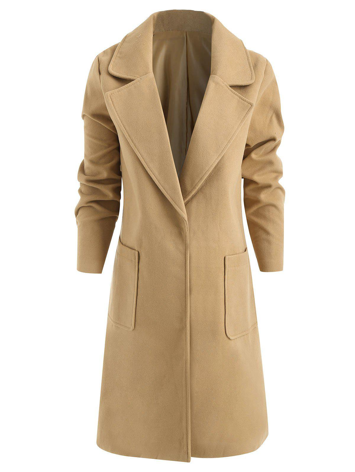 Online Plus Size Single Breasted Lapel Collar Coat