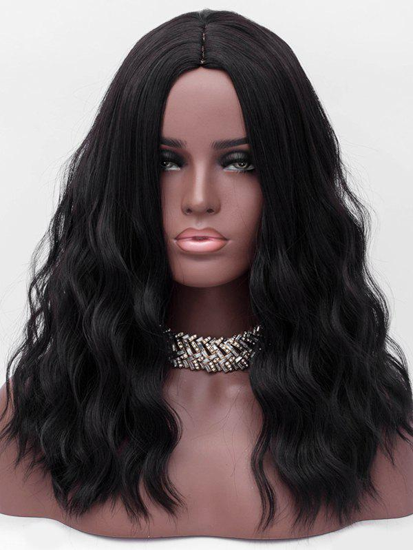 Online Center Parting Long Corn Hot Wavy Synthetic Wig