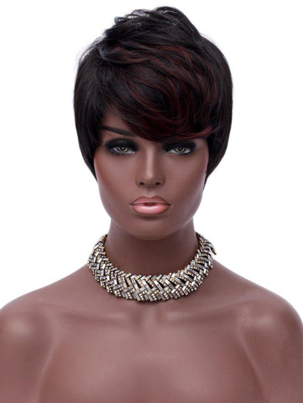 Shop Short Oblique Fringe Colormix Straight Synthetic Wig