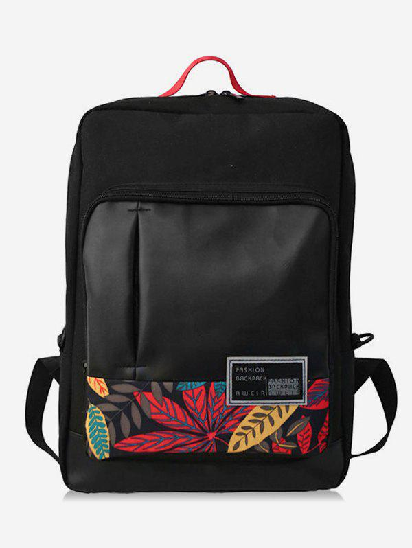 Hot Leaves Shape and Letter School Backpack