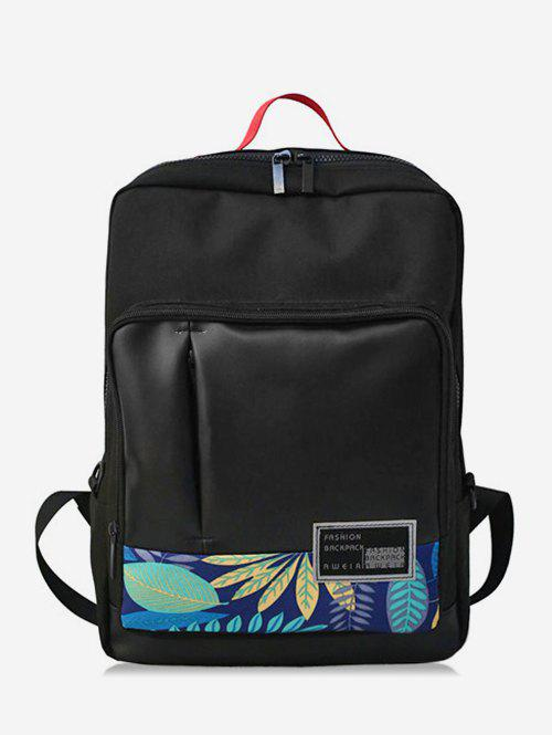 Chic Leaves Shape and Letter School Backpack