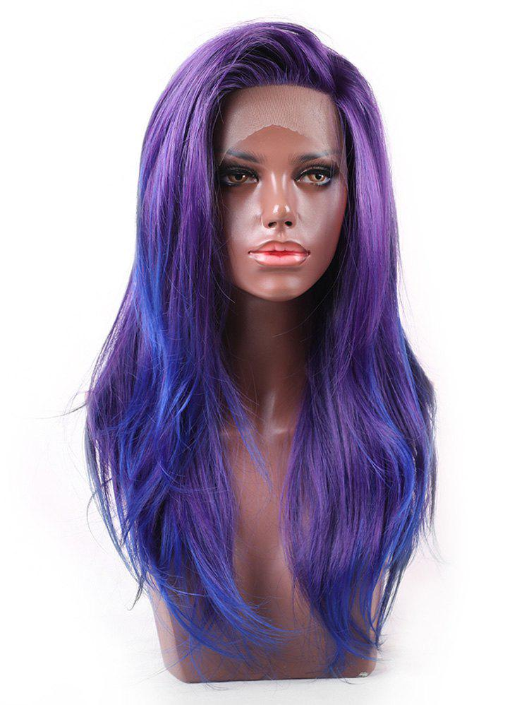 New Long Free Part Colorful Straight Synthetic Lace Front Wig