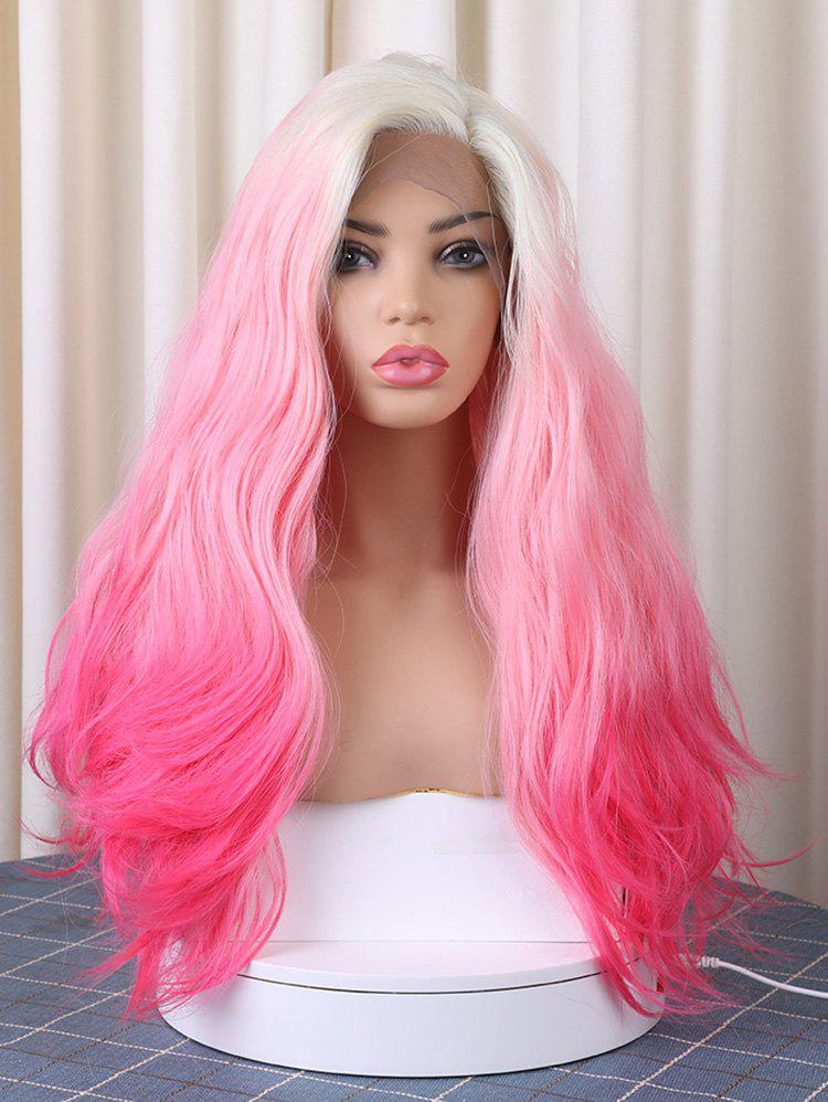Outfits Long Side Parting Colorful Corn Hot Wavy Christmas Synthetic Lace Front Wig