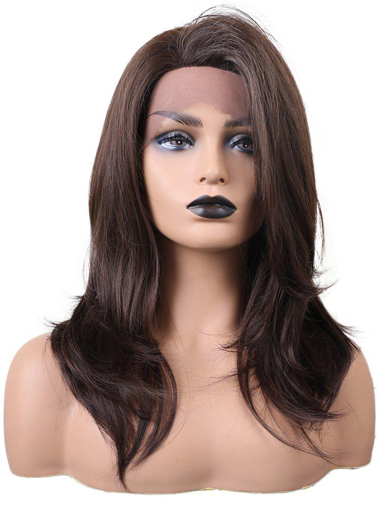 Store Long Side Bang Straight Party Synthetic Lace Front Wig