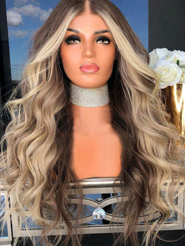Store Middle Part Long Colormix Party Wavy Synthetic Wig