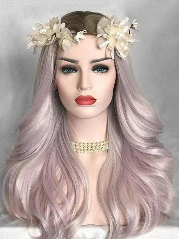 Hot Middle Part Colormix Long Natural Straight Lolita Synthetic Wig