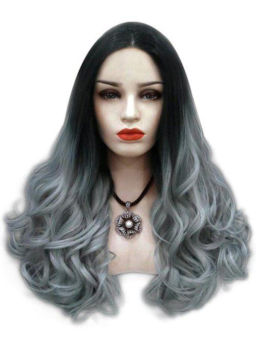 Shops Center Parting Ombre Long Wavy Cosplay Synthetic Wig