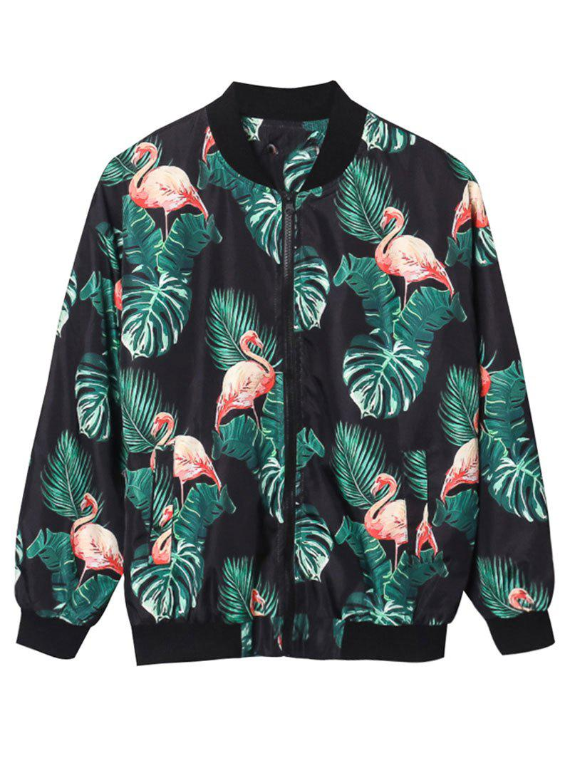 Cheap Flamingo Palm 3D Print Jacket