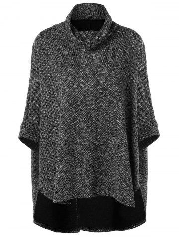 High Low Batwing Sleeve Cape Sweater