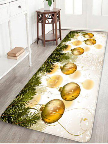 Christmas Ball Snowflake Printed Non-slip Area Rug - GOLDEN BROWN - W16 X L47 INCH
