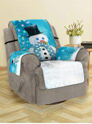 Christmas Tree Snowman Pattern Couch Cover -