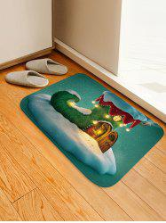 Christmas Boot House Pattern Water Absorption Area Rug -