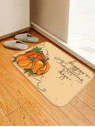 Pumpkins Letters Pattern Water Absorption Area Rug -