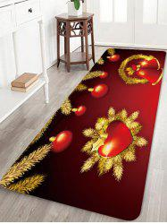 Christmas Heart Bells Pattern Water Absorption Area Rug -