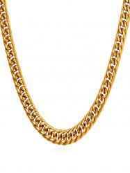 Stainless Steel Simple Design Chain Necklace -
