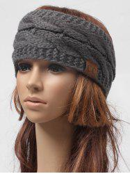 Winter Knitted Letter Label Wide Headband -
