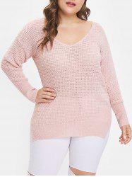 Plus Size Oversized Chunky Sweater -