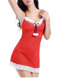 See Through Lace Insert Mesh Sexy Dress -