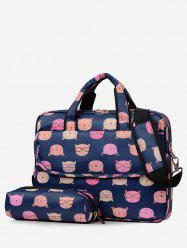 2Pcs Cartoon Pattern Tote Bag -