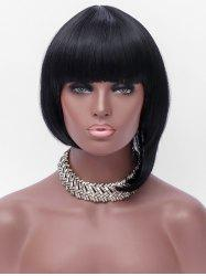 Full Bang Short Asymmetric Straight Bob Synthetic Wig -