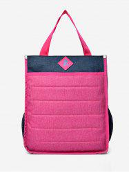 2Pcs Color Block Letter Design Backpack -