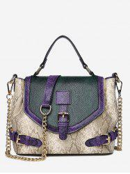 Artificial Snake Leather Tote Bag -