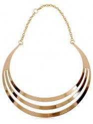 Multilayered Alloy Statement Necklace -