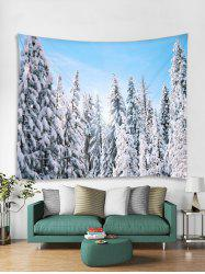 Snow Forest Christmas Theme Tapestry Art Decoration -