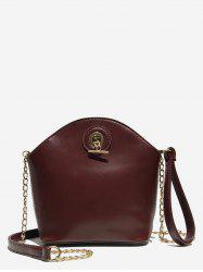 Shell Shape Zipper Design Crossbody Bag -
